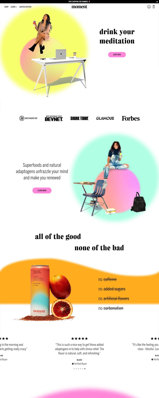 eCommerce website: Moment