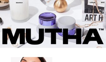 eCommerce website: MUTHA
