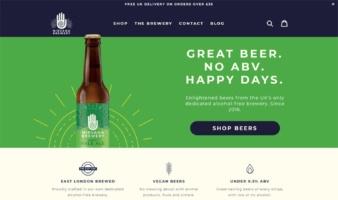 eCommerce website: Nirvana Brewery