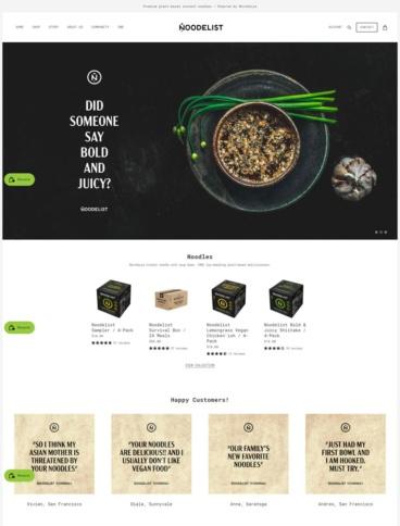 eCommerce website: Noodelist