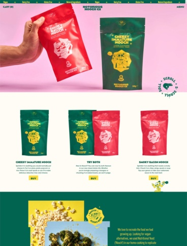 eCommerce website: Notorious Nooch Co.