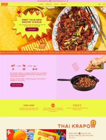 eCommerce website: Omsom