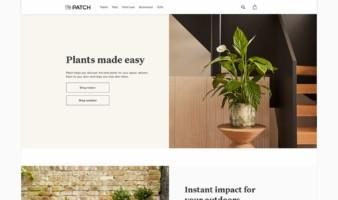 eCommerce website: Patch plants
