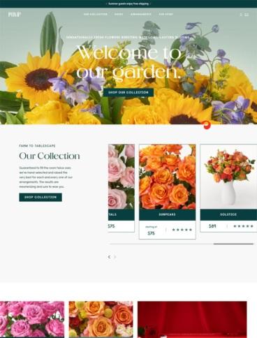 eCommerce website: POMP