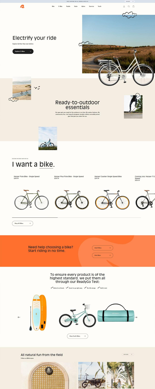eCommerce website: Retrospec