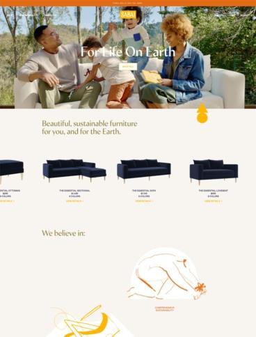 eCommerce website: Sabai Design