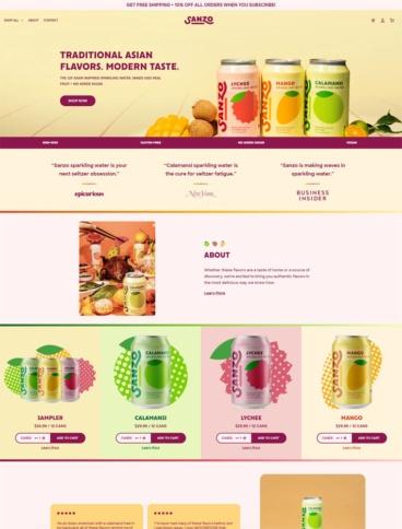 eCommerce website: Sanzo