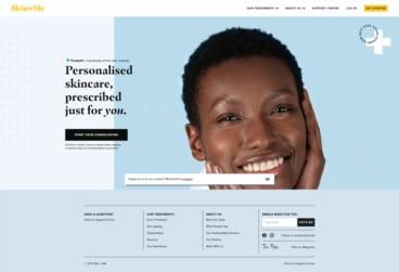 eCommerce website: Skin+Me