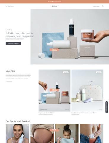 eCommerce website: SoKind