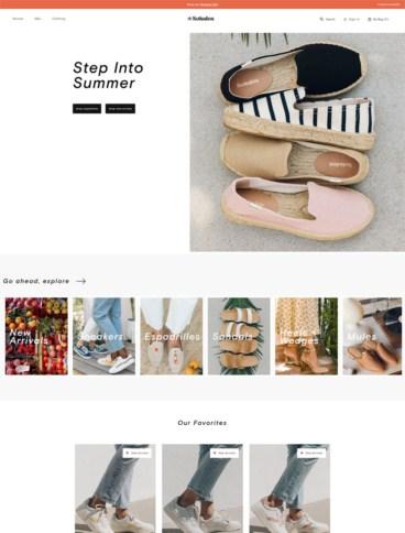 eCommerce website: Soludos