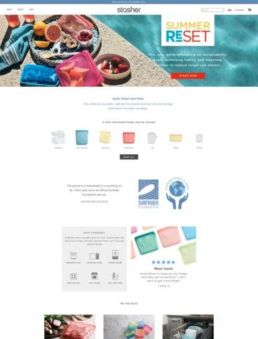 eCommerce website: Stasher
