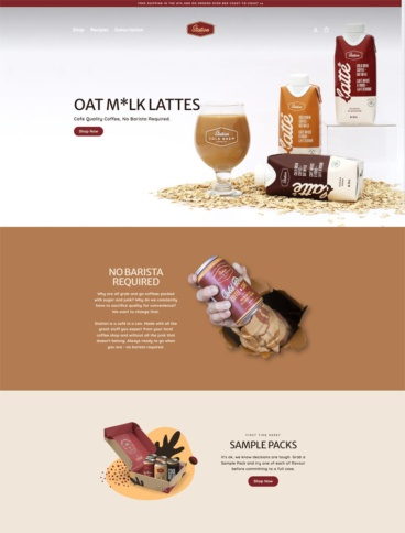 eCommerce website: Station Cold Brew Coffee Co