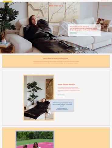 eCommerce website: SweatHouse