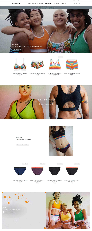 eCommerce website: TomboyX