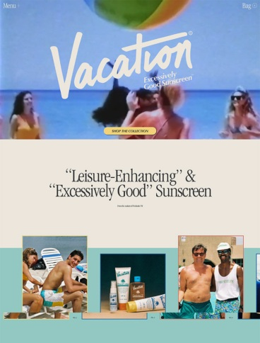 eCommerce website: Vacation