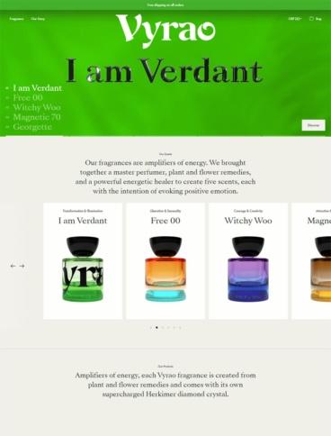 eCommerce website: Vyrao