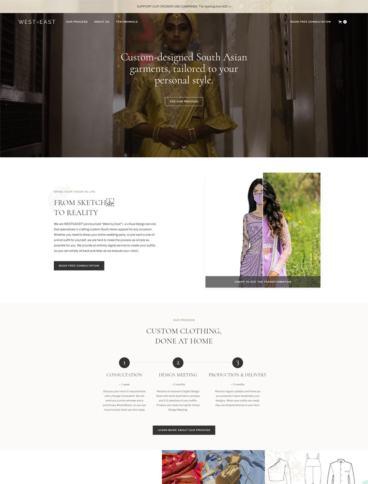 eCommerce website: WESTxEAST