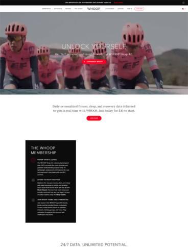 eCommerce website: Whoop