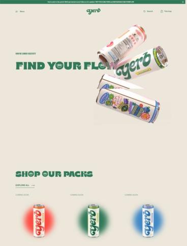 eCommerce website: Yerb