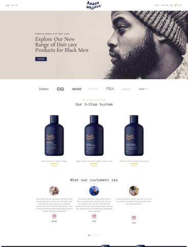 eCommerce website: Aaron Wallace