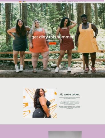 eCommerce website: Alder Apparel