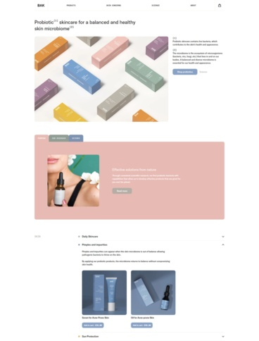 eCommerce website: BAK