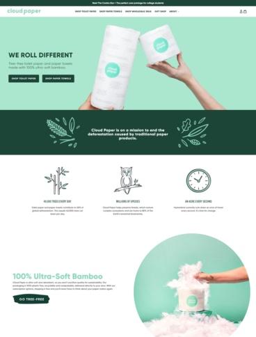 eCommerce website: Cloud Paper