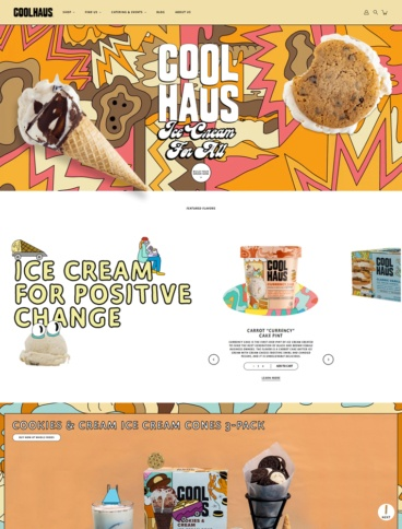 eCommerce website: Coolhaus