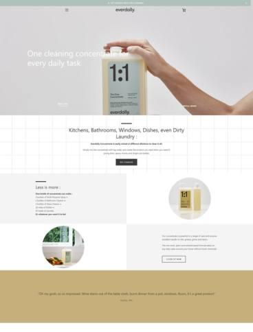 eCommerce website: Everdaily