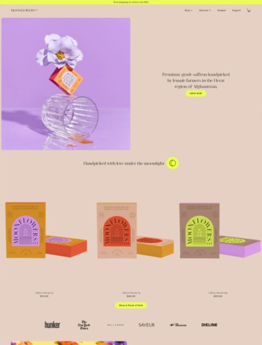 eCommerce website: Moonflowers