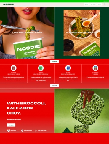 eCommerce website: Noodie