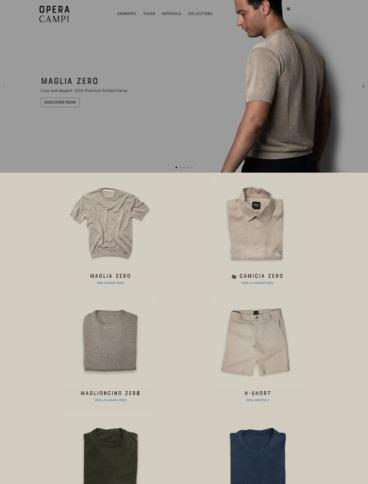 eCommerce website: Opera Campi