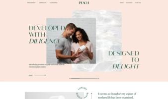 eCommerce website: Peach