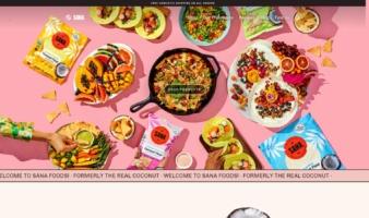 eCommerce website: Sana Foods