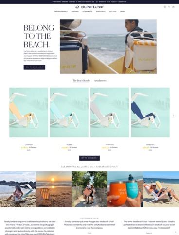 eCommerce website: Sunflow