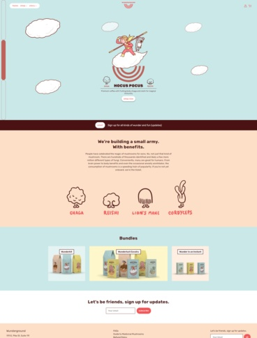eCommerce website: Wunderground