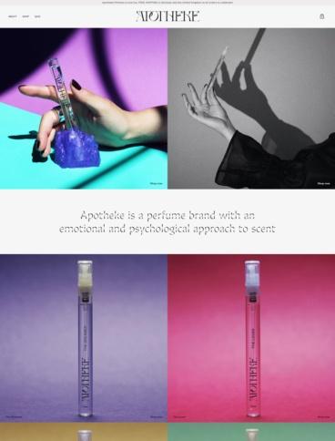 eCommerce website: Apotheke Perfume