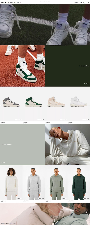 eCommerce website: Axel Arigato