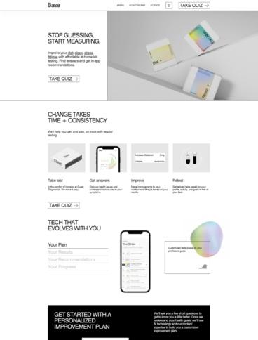 eCommerce website: Base
