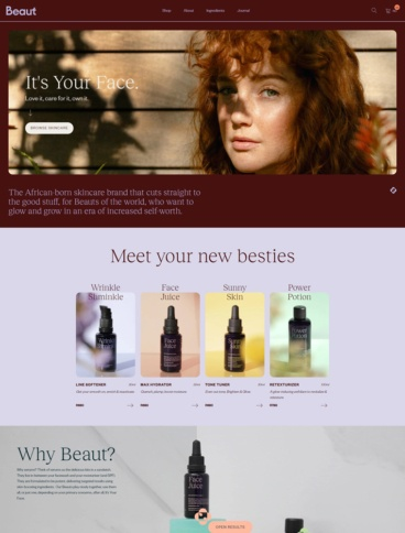 eCommerce website: Beaut Serums
