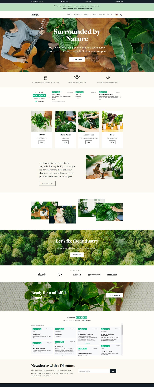 eCommerce website: Bosque