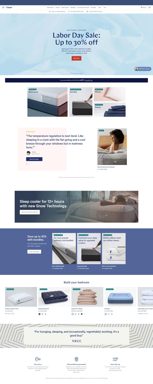 eCommerce website: Casper