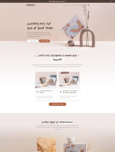 eCommerce website: Crockd