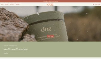 eCommerce website: Dae Hair