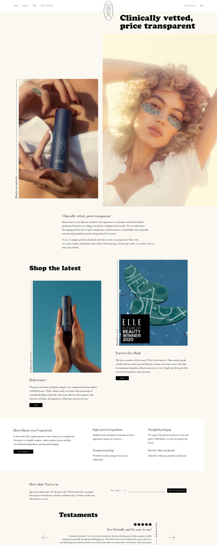 eCommerce website: Dieux