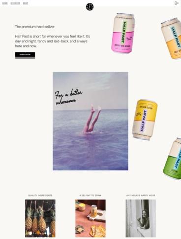 eCommerce website: DRINK HALF PAST