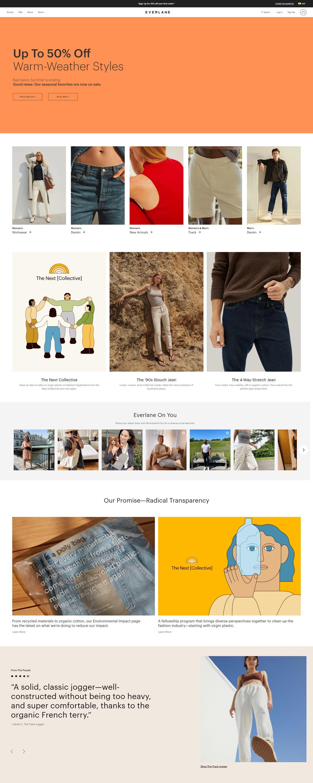 eCommerce website: Everlane