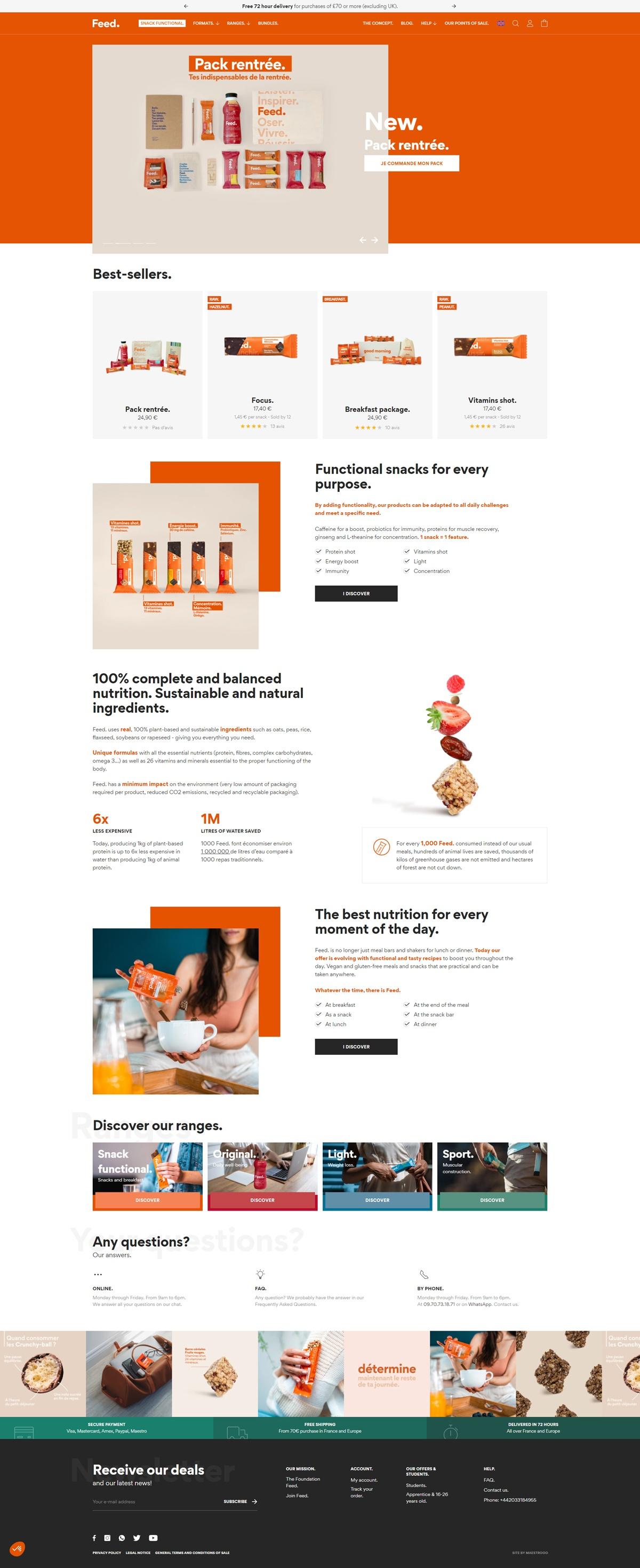 eCommerce website: Feed.