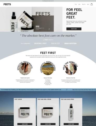 eCommerce website: Feets