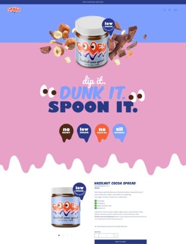 eCommerce website: Gooey
